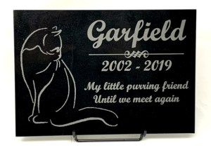 Marble Cat Plaque