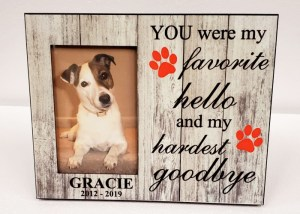 Personalized Pet Picture Frame – Design1