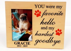 Personalized Pet Picture Frame – Design2