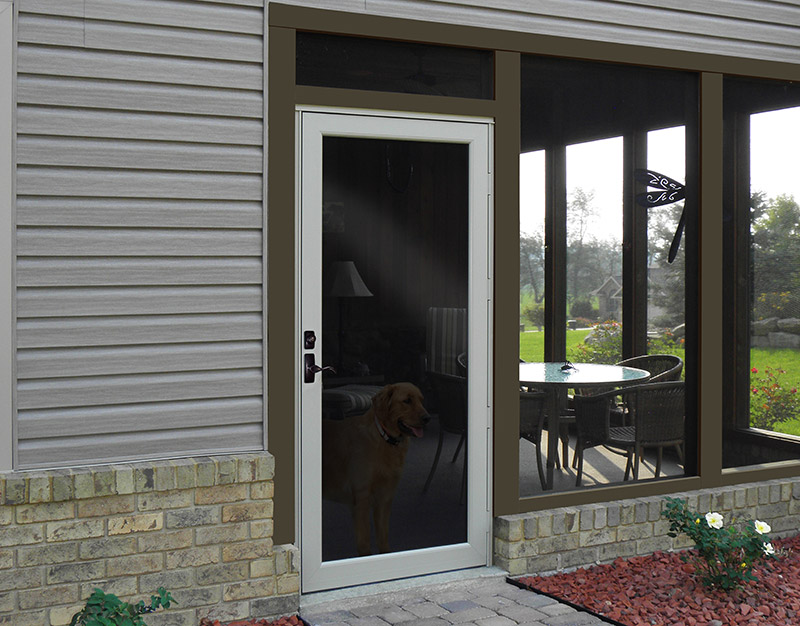 how to clean a screen door step by