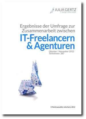 Titel Ergebnisse Umfrage Zusammenarbeit IT-Freelancer Agenturen