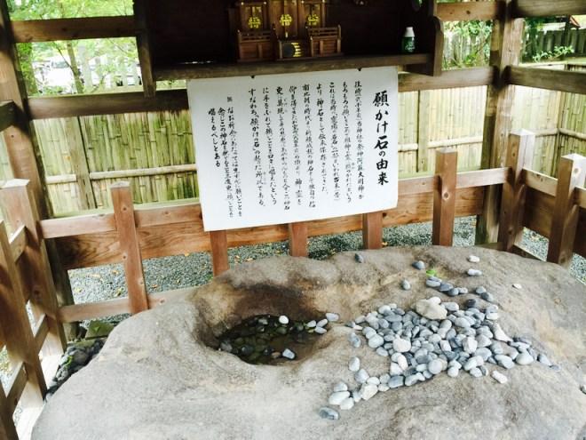 阿蘇神社 | 願かけの石