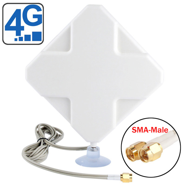 4G LTE Indoor Antenna (2 x SMA Connectors) for Huawei/ZTE 4G LTE Routers/Gateway/LTE CPE