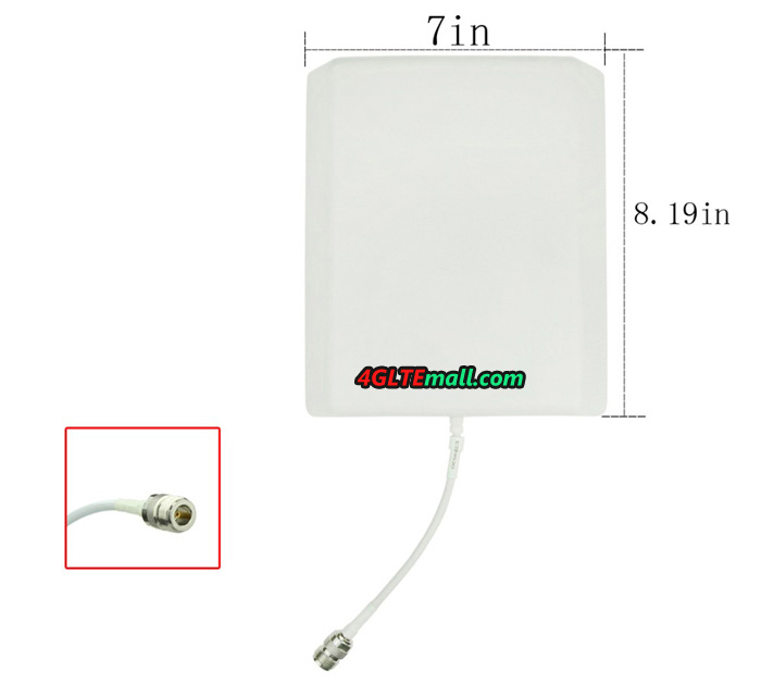 4G Outdoor LTE Antenna 9dBi High Gain Panel Flat