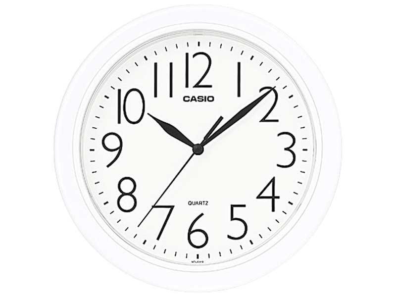 Alarm & Wall Clocks : Casio White Wall Clock (IQ-01S-7DF