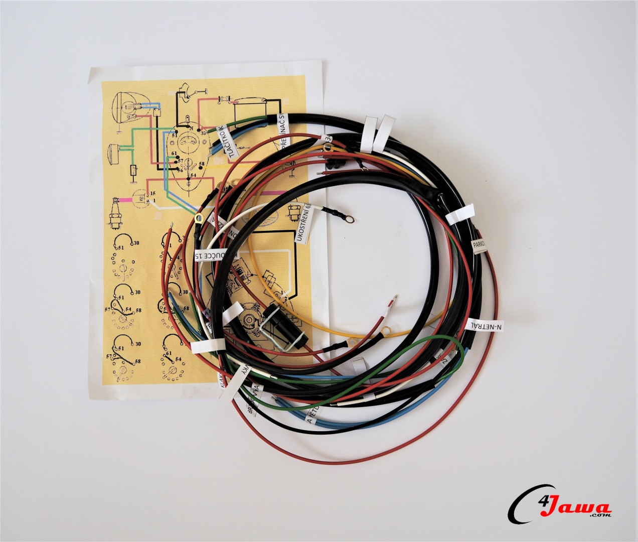 hight resolution of wiring harness switch box in fuel tank jawa 350 354 kyvacka