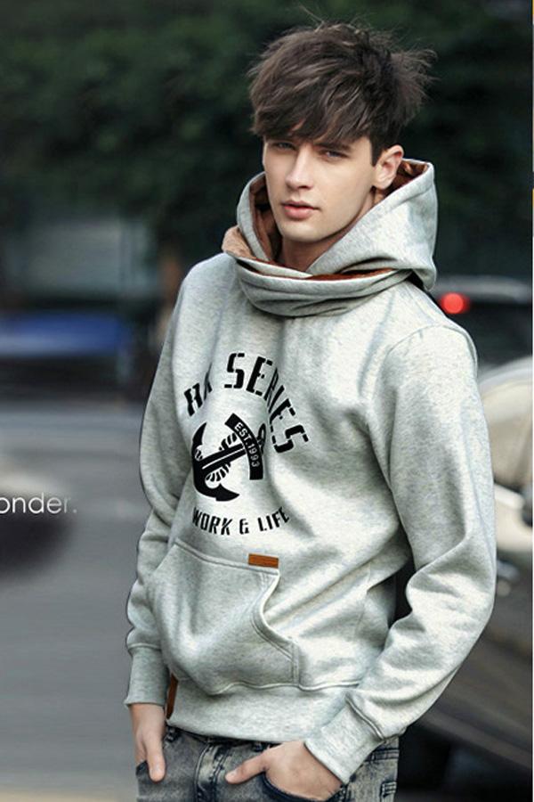 Scarf Style Cool Man Fashion Hoodie  4kigurumicom