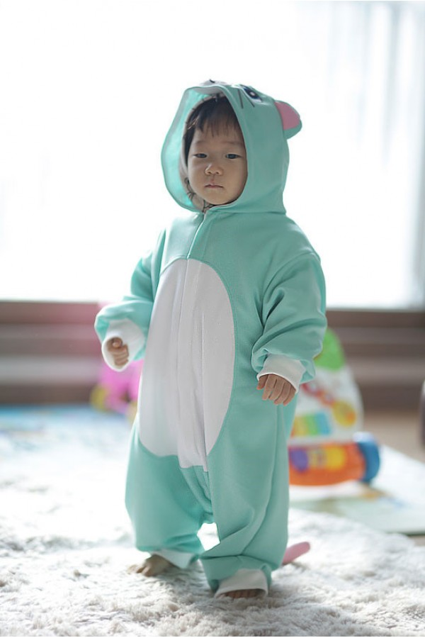 Blue Cat Baby Animal Pajama  4kigurumicom