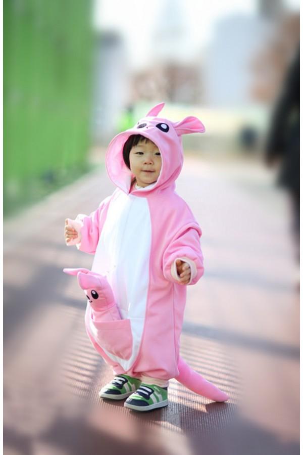 Pink Kangaroo Baby Animal Onesie