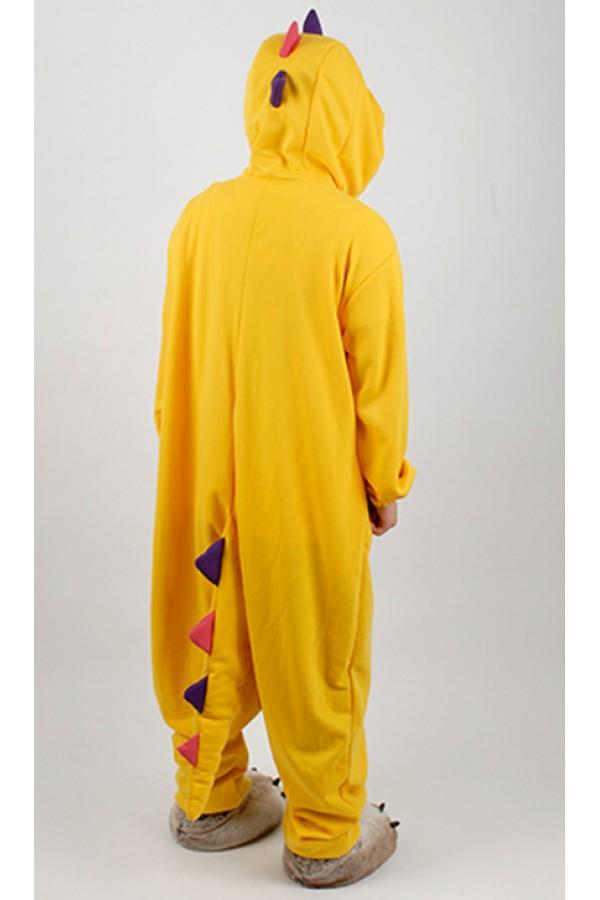 Yellow Dinosaur Kigurumi Halloween Onesie  4kigurumicom