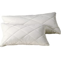 Organic Pillows - Organic Cotton & Wool Natural Quilted ...