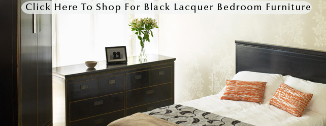 Black Bedroom Furniture  Oriental Lacquered Designs at 4 Living