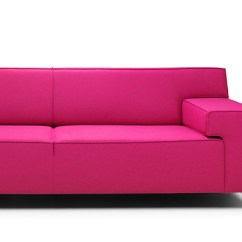 Bright Sofa Media Recliner Pink Red Purple Funky Sofas Made In Holland