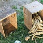 Vintage Box Crate Turned Toy Box