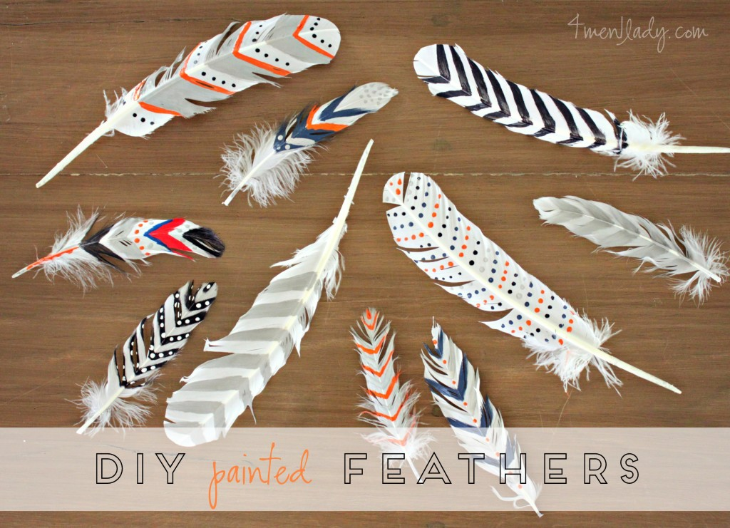 DIY Painted Feathers  100 ACE card giveaway