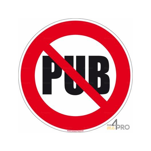 Panneau Rond Interdiction De Dposer De La Pub 4mepro