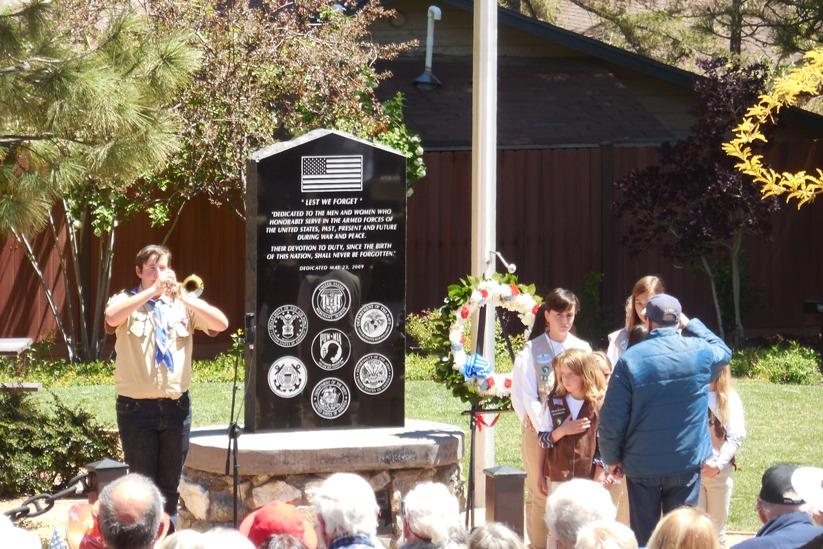 Veterans Memorial Group cautiously present Memorial Day Ceremony