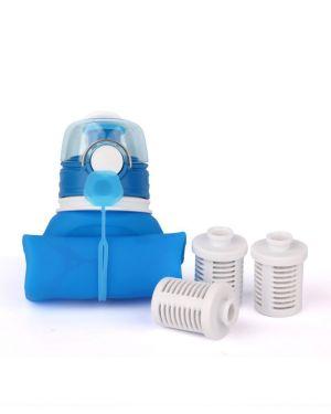 Super pack Classic Nomad con filtros para un año botella plegable con filtro de agua