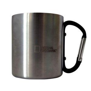 taza de acero inoxidable national geographic con mosqueton