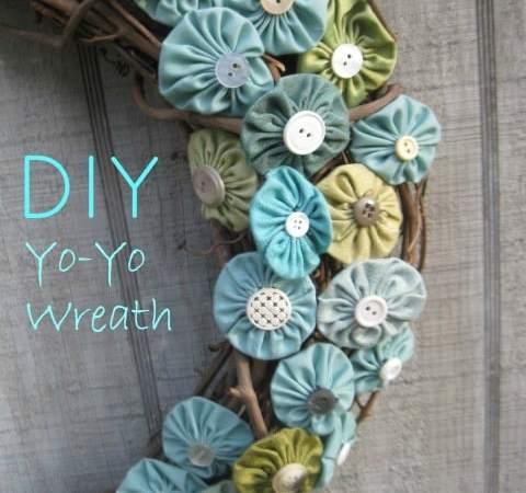DIY Yo Yo Wreath