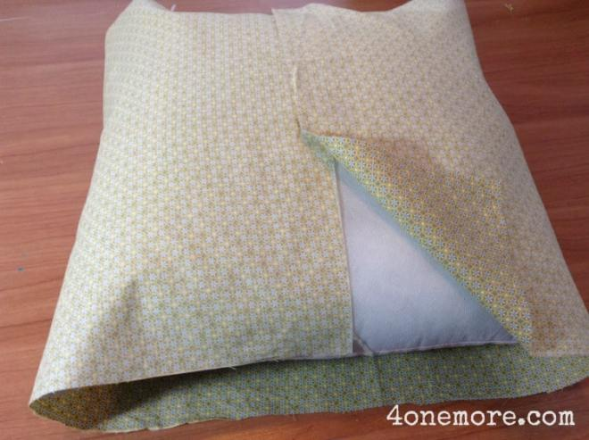 DIY spring pillow cover 4onemore.com