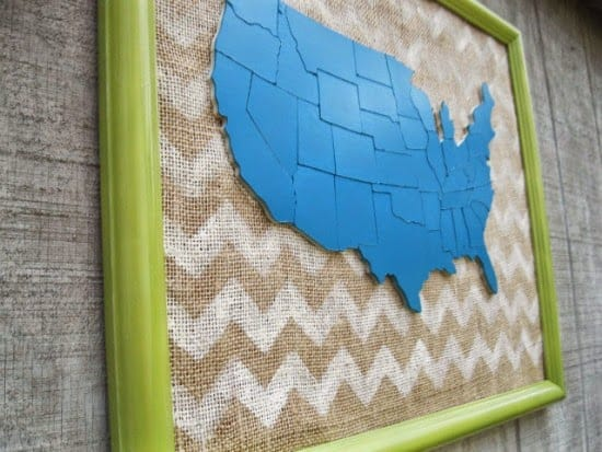 DIY map art @4onemore.com