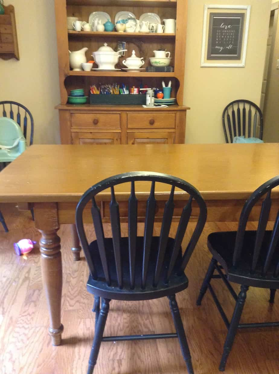 Colorful Painted Kitchen Table and Chairs Making Room 4 e More