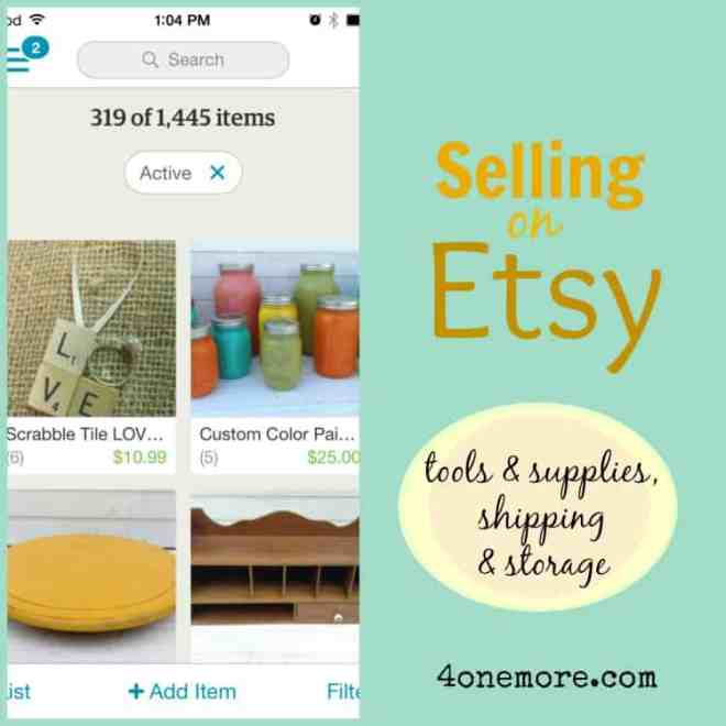 etsy series - tools supplies shipping and storage options @ 4onemore.com