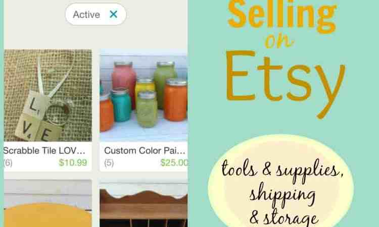 selling on etsy:  tools & supplies, shipping & storage