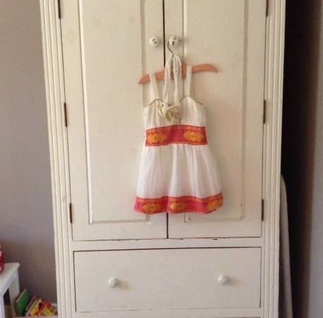 furniture up cycle:  TV cabinet into armoire