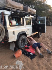 Central Kalahari Game Reserve - Diesel leak in Ghanzi