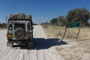 Central Kalahari Game Reserve - on our way!