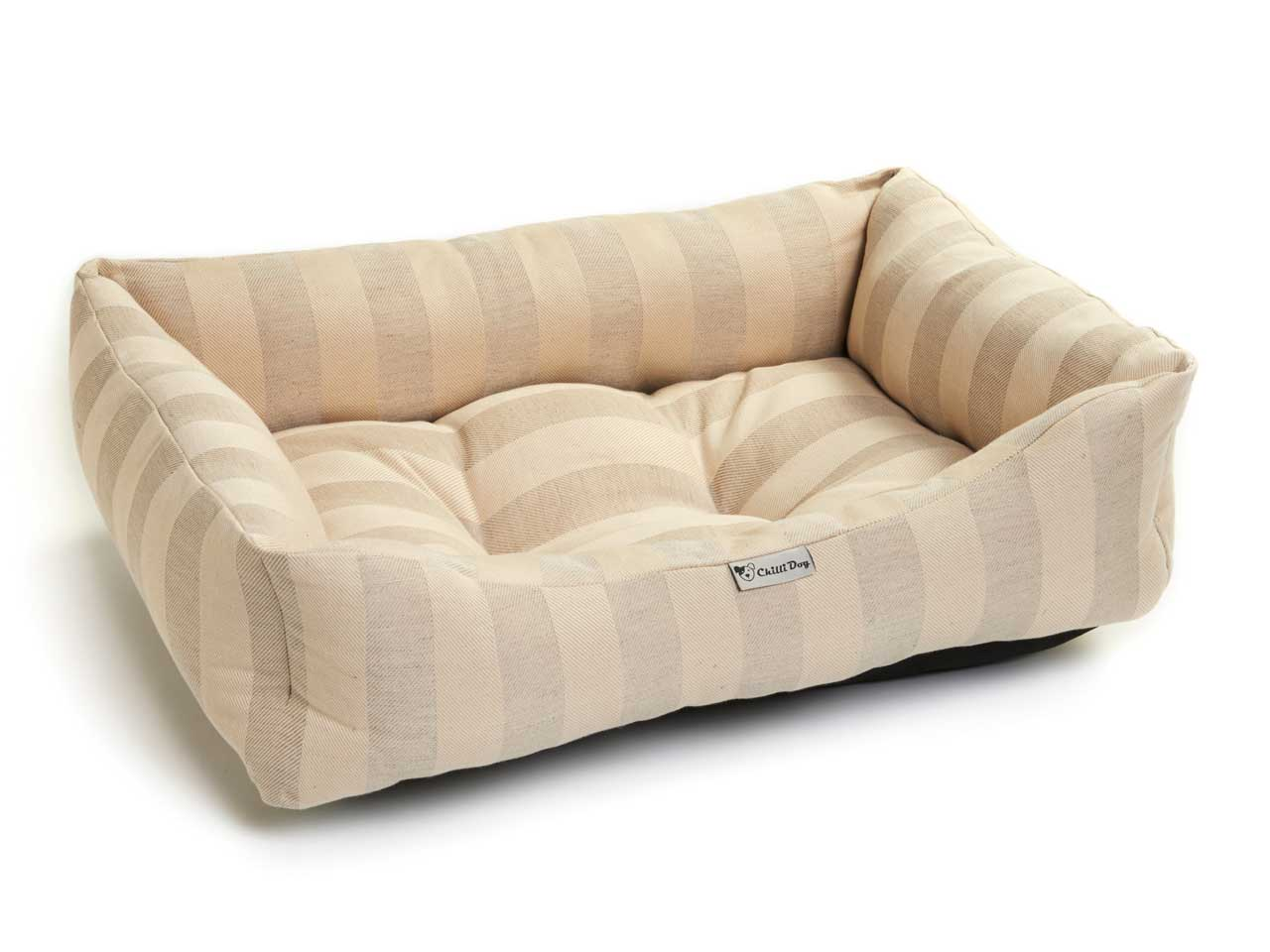 blue striped sofa uk astor sectional lounge chilli dog cotton stripe puppy bed medium large
