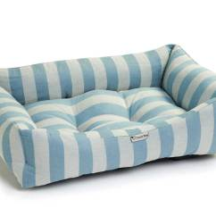 Blue Striped Sofa Uk Designs For Small Living Room India Chilli Dog Cotton Stripe Puppy Bed Medium Large
