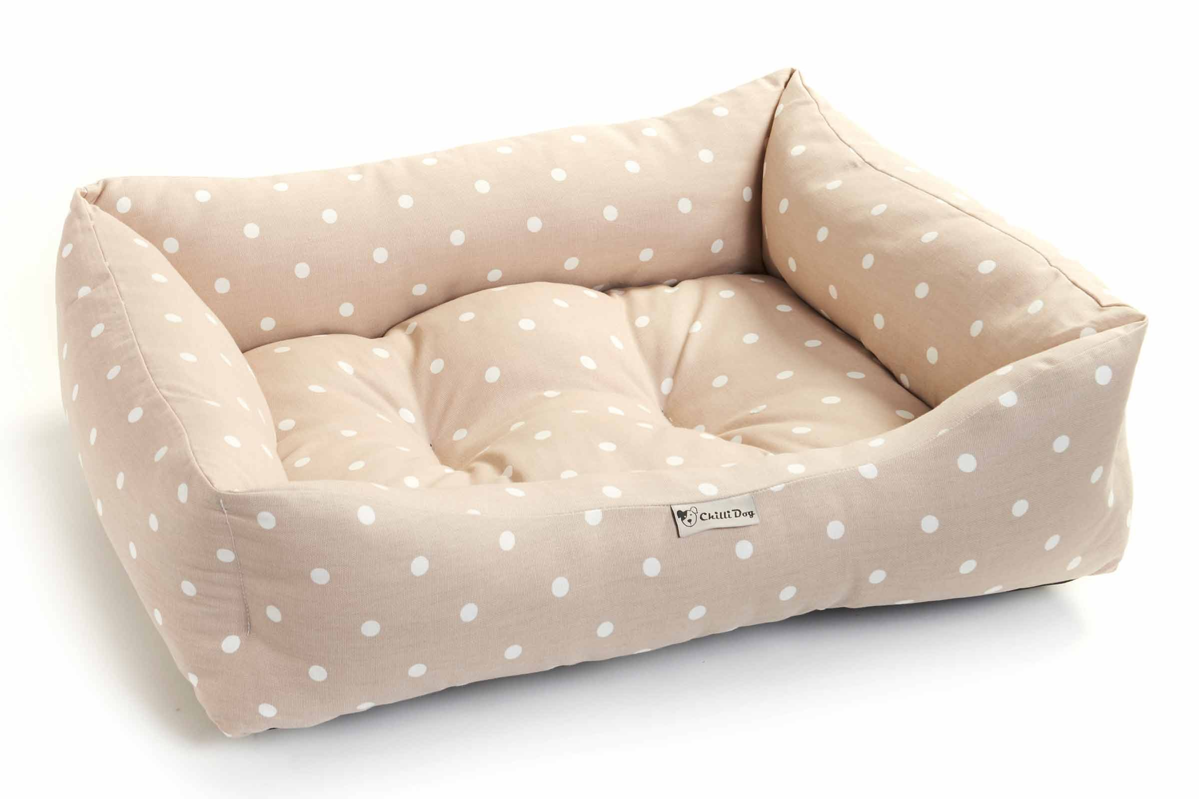clark rubber foam sofa bed small sofas with metal legs british made chilli dog clarke and polka dot design
