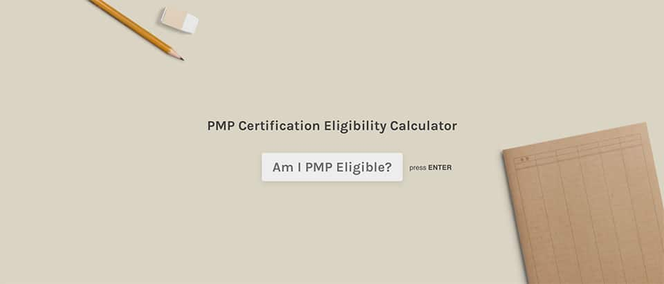 screenshot of PMTI's PMP certification eligibility calculator