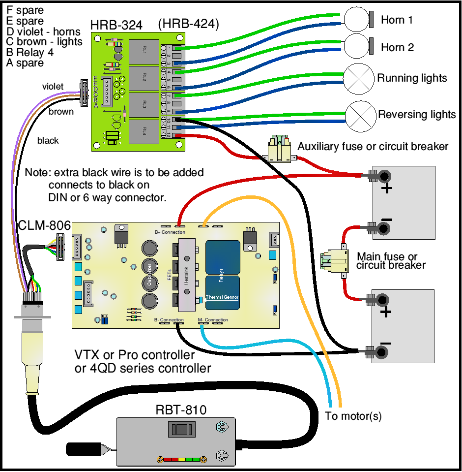 model a horn wiring diagram software to draw flow chart loco hand control relay board 4qd electric motor hrbrev png
