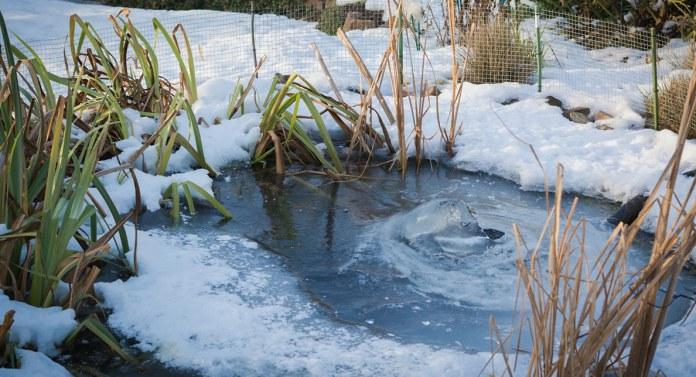 Teichbelüfter hält Teich ungefrorern