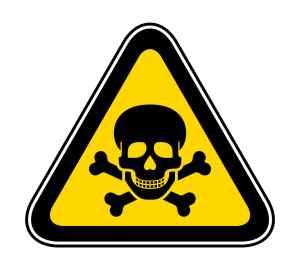 Warnschild für GIft