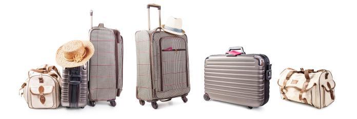 Einige Gepäckstücke zum Reisen
