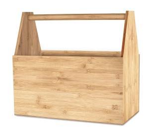 Leerer Werkzeugkoffer aus Holz