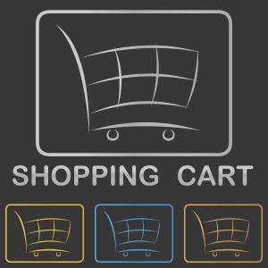 Vier Einkaufswägen
