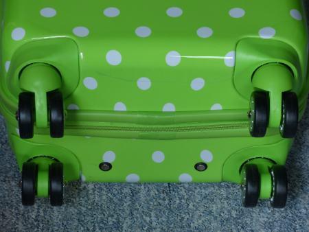 Koffer mit vier Doppelrollen