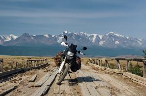 Bepacktes Motorrad