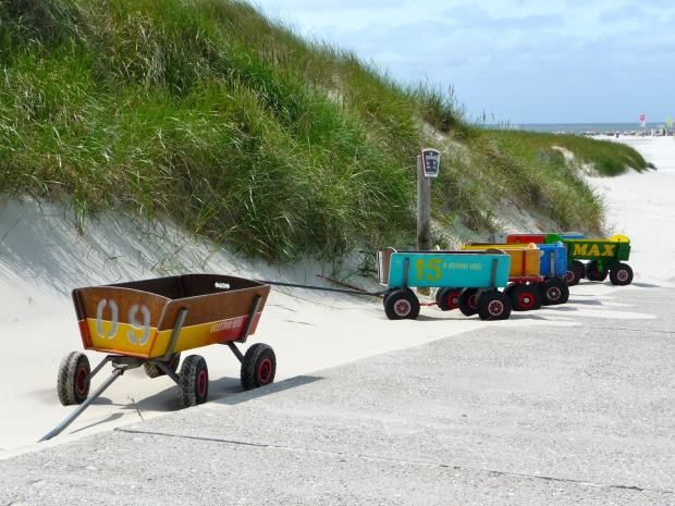 Strandtrolley am Strand
