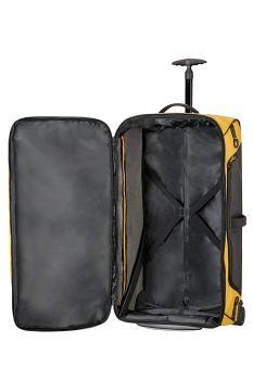 Gelbe Reisetasche Innenraum