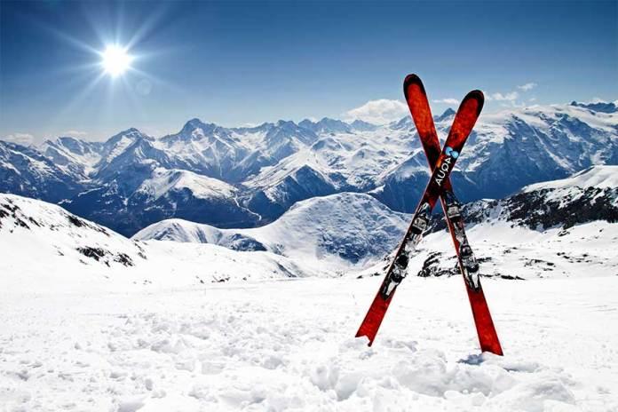 Ski Test - mitten auf der Piste