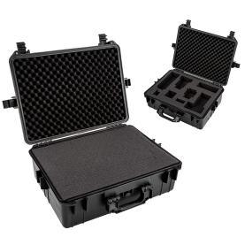 Zwei schwarze Fotokoffer