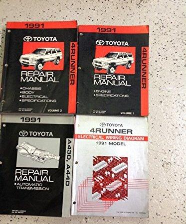 1991 TOYOTA 4RUNNER Service Shop Repair Manual Set OEM W ...