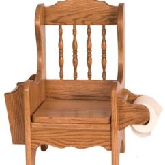 Wooden Potty Chair Master Bedroom Chairs Amish Picture Of Solid Oak With Lid Book And Toilet Paper Holders